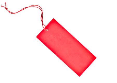 blank red paper tag photo