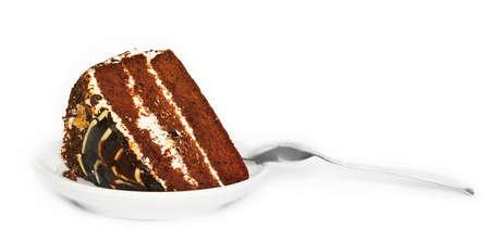 cake piece on saucer