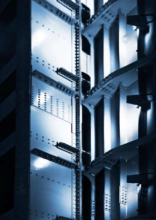 bracing: metal construction Stock Photo