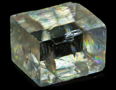 stratified: calcite crystal Stock Photo