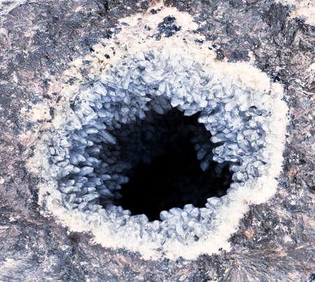 quartz- amethyst geode photo