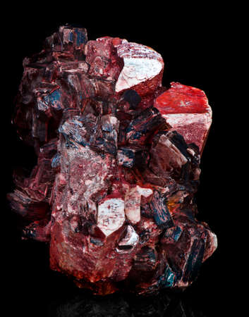 ruby red: crystal aggregate Stock Photo
