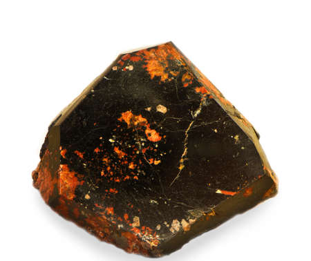 mineralization: orthite Stock Photo