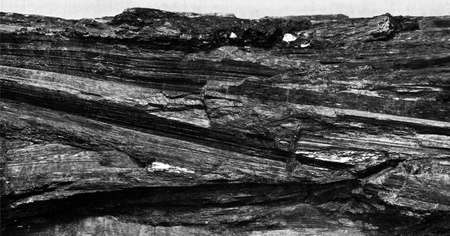 rock formations: raw black coal Stock Photo