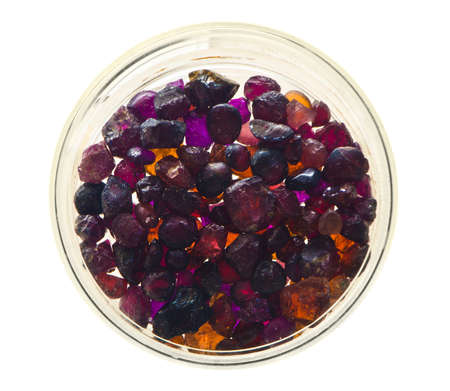 spinel: laboratory samples (almandine and spinel) Stock Photo
