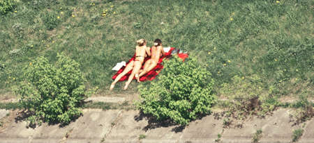 swimsuite: sunbathing girls