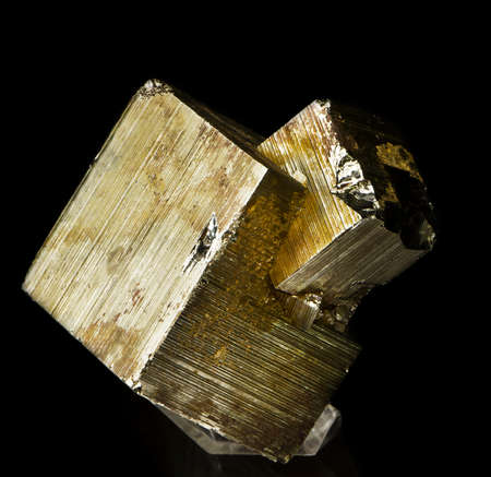 crystalline gold: pyrite Stock Photo