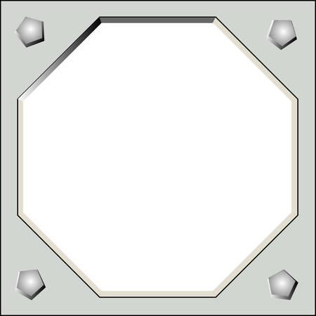 severe: matal frame Illustration