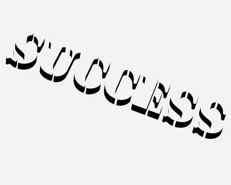 stenciled: word- success