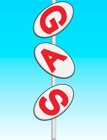benzin: roadsign gas