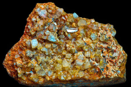 on aggregate: crystal aggregate Stock Photo