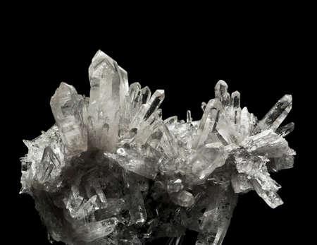 mineralization: the crystal quartz  Stock Photo