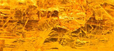 yellow stone: amber, closeup