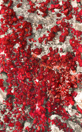 emery: red mineralization
