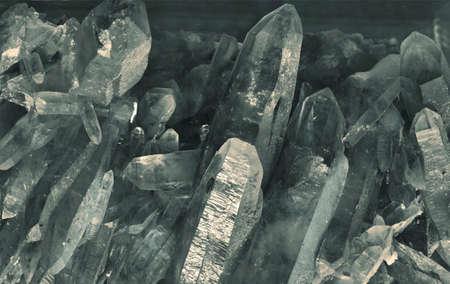mineralization: quartz crystals