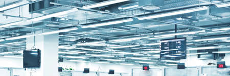 hall monitors: superstructure of commercial premises Stock Photo