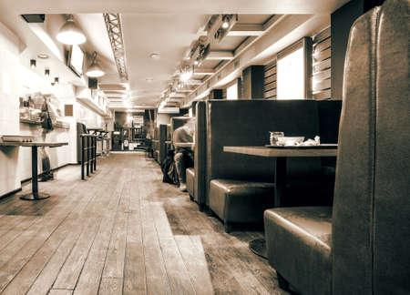 old interior: diner
