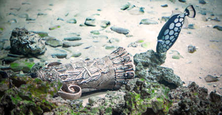 subaquatic: sunk Greek bronze cup