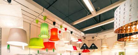 home  lighting: lustres on sale Stock Photo