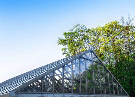 glasshouse: solid glasshouse Stock Photo