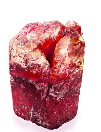 ruby stone: red crystal aggregate
