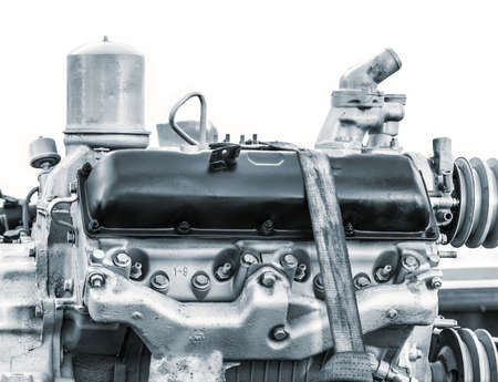 cylinder block: diesel engine Stock Photo