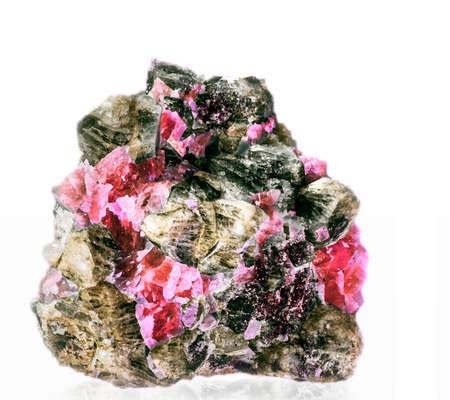 mineralization: rhodochrosite in its rock material Stock Photo