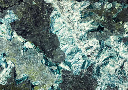 mineralization: mineralization on the rock