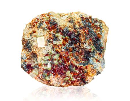 garnets: Grossular hessonite Clinochlore Diopside Garnets on rock