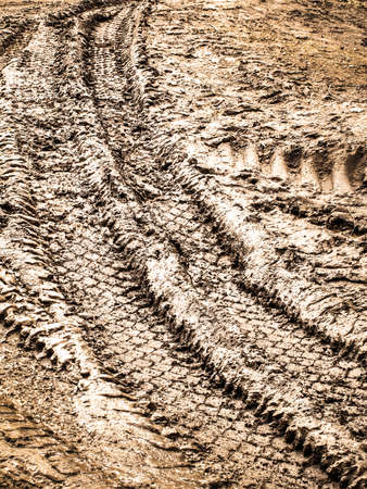 miry: tyre tracks in the mud
