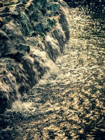 cascade: evening cascade Stock Photo