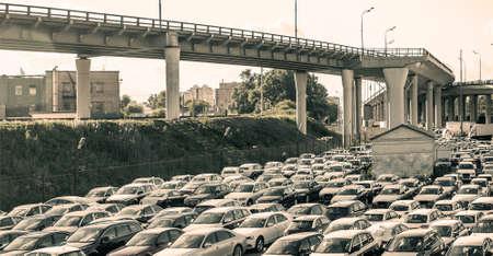 car lot: car dealers centre