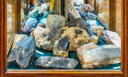 exhibition: mineralogy museum Stock Photo