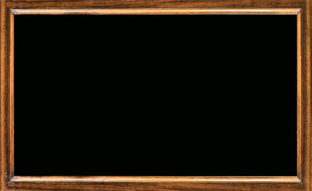 framed picture: old blackboard Stock Photo