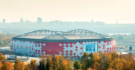 moscow: MOSCOW, RUSSIA, 2015: new stadium Spartak Editorial