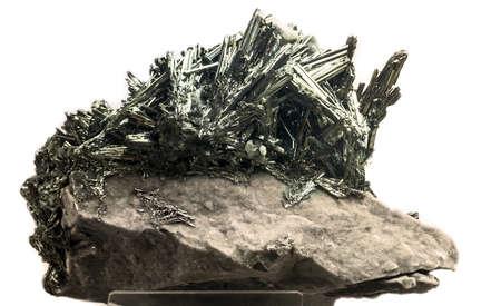 mineralogy: antimonite (Sb2S3)
