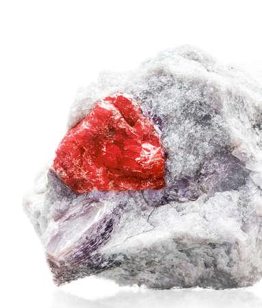 Ruby in quartze