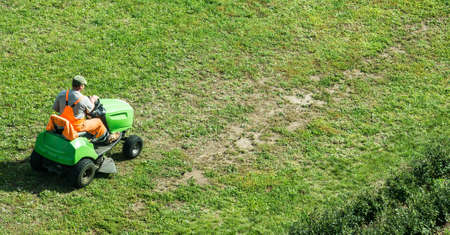 motorized: motorized lawn-mower