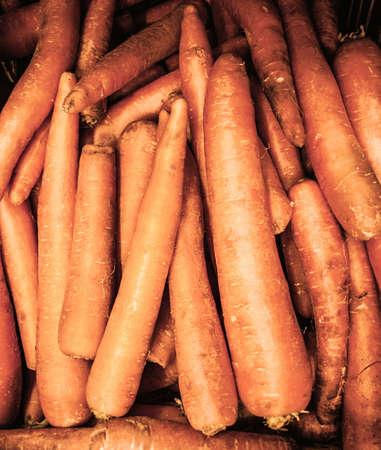 vitamin store: fresh carrots Stock Photo