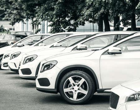 car dealer center Standard-Bild