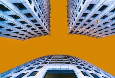 concrete commercial block: office buildings Stock Photo