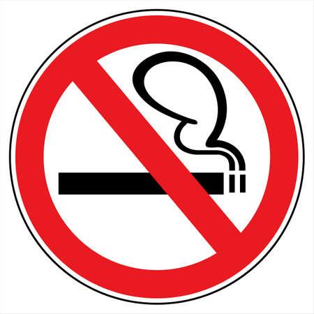 Niet roken! teken