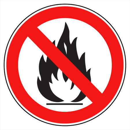 flammable: No fire sign