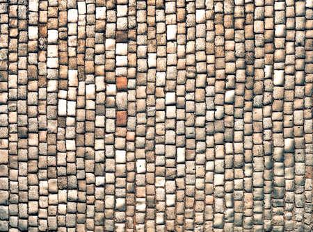 walling: pavement closeup