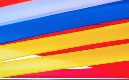 festal: colorful silk ribbons Stock Photo