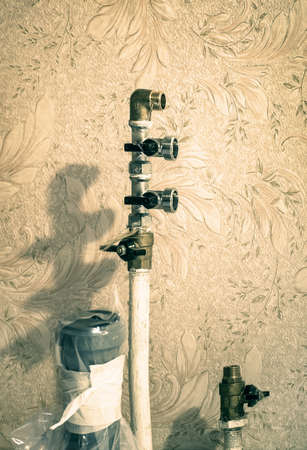 fitted unit: ball-valves on pipeline