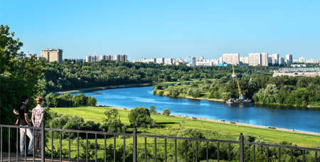 city view: Moscow riverside Stock Photo