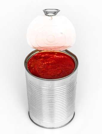 canned: canned tomato paste Stock Photo