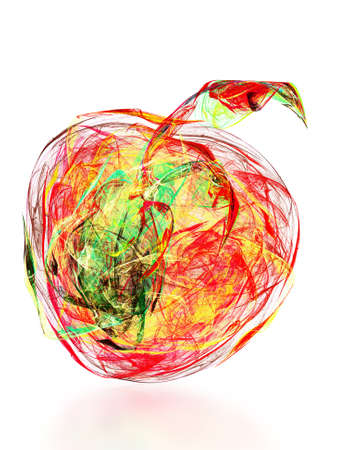 pictorial art: abstract apple Stock Photo