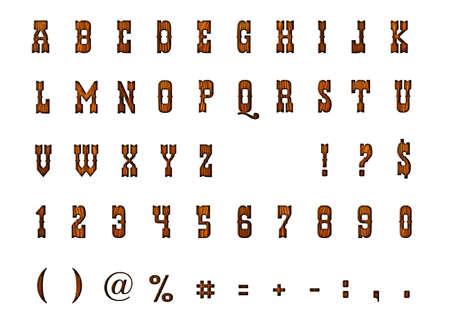 Western Alphabet Stock Photo